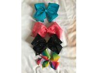 4 Girls Jojo Siwa Hair Bows