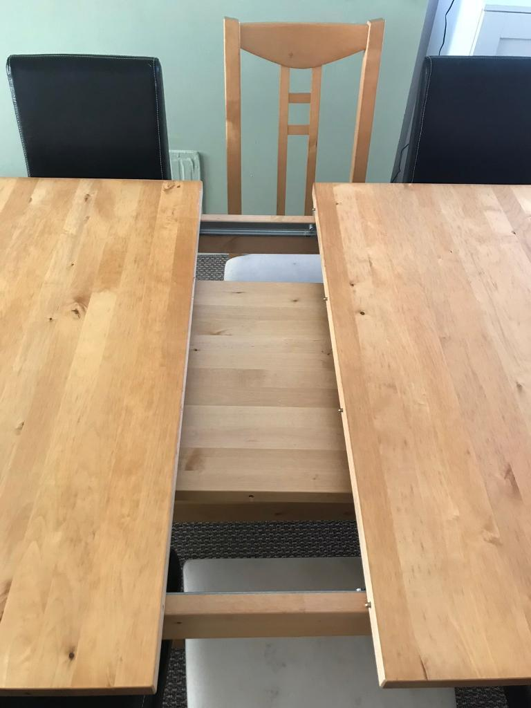 9ft Extending Solid Wood Dining Table In Grangetown Cardiff