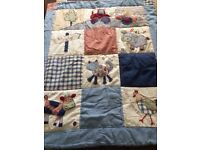 'Busy Tractor' Cot Bedding