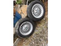 16 Inch Alloys with 4 Brand New Tyres (bmw primastar trafic vivaro van)