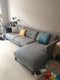 4 seat sofa with chaise on left side