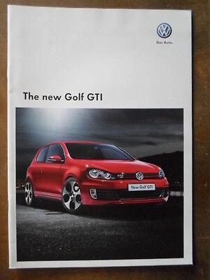VOLKSWAGEN GOLF GTI orig 2009 UK Mkt Sales Brochure - VW