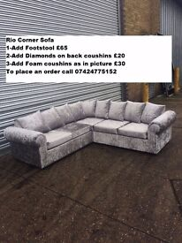 RIO CORNER & 3+2 SEATER **BRAND NEW**EXPRESS DELIVERY UK MADE