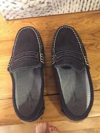 Next Boys Navy Suede Loafers