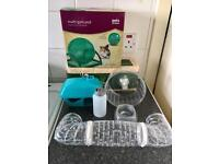 Hamster Cage 3 months old. With wheel bowl water bottle tunnel house wheel & sawdust