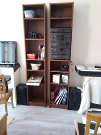 2 Dark Brown Billie Narrow Book Shelves