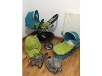 Icandy Peach Sweet Pea pram/ pushchair excellent condition