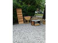 Free for collection // bookcase & table gone