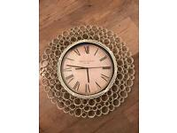 Beautiful Cream Metal Wall Clock