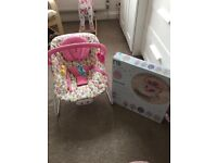 Mothercare Norwegian Wood Pink Bouncer Chair