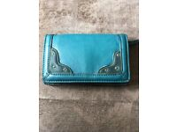 Clarks leather green/teal purse