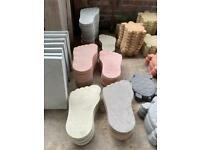 *New* Concrete/ Stone Big Foot Ornament/ Stepping Stone