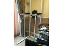 Free standing dip station, Verticle knee raise pull chin push up workout