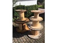 Various sized cable reels from £5