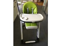 Lime green leather high chair