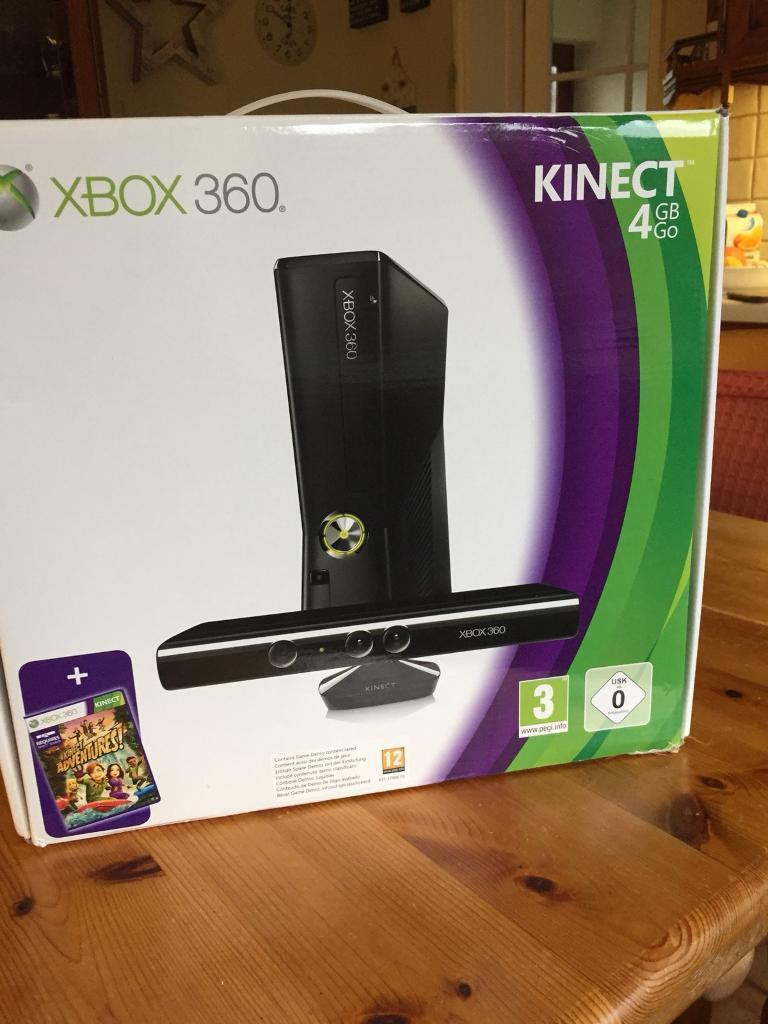 Xbox 360 with Kinect in box