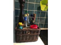 BRAIDED BASKET, for cooking oils ans spices or other storage