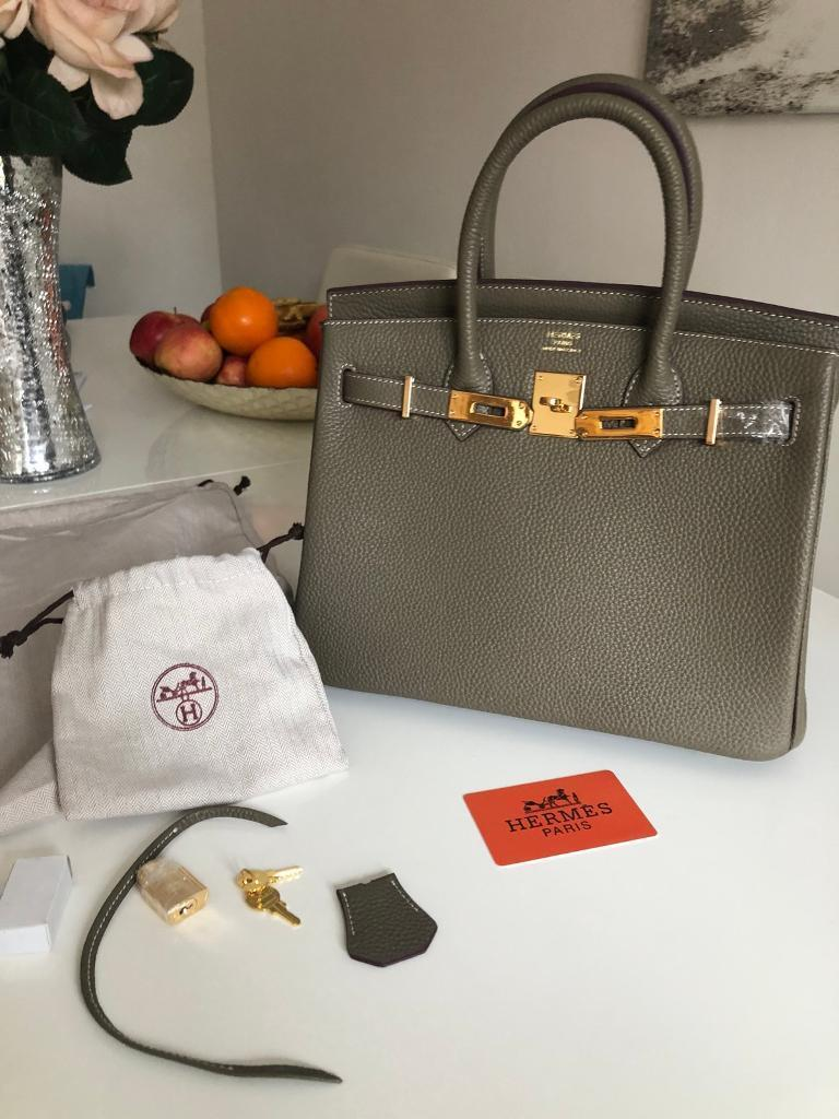 Inspired 25cm Hermes birkin bag real leather  ec7c1a3eea319
