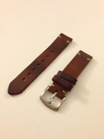 Brown Chromexcel Leather 20mm Watch Strap
