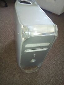 Power Mac G4 computer tower with power cord