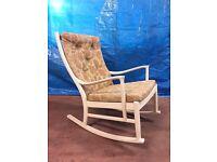 Retro Vintage 1970's Parker Knoll Rocking Chair Danish style