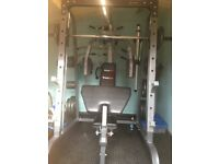 Smith machine multi-gym with weights