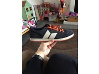 MACBETH Mens Size UK 11 Suede Skate Style Trainers