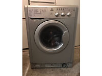 Silver INDESIT WIDXL126S Washer & Dryer (Fully Working & 4 Month Warranty)