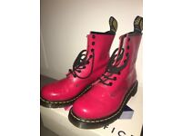 Red Paton Doc Marten Boots - Size 6