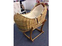 Moses basket , crib.
