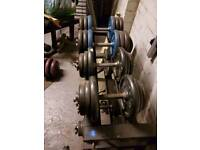 Dumbbells 160kg with stand