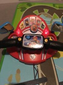 Paw patrol motorbike toy
