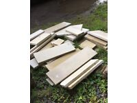 Indian Buff sandstone paving off-cuts - unused - suitable for paving and edging