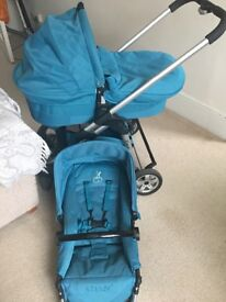 Icandy Pram great condition teal colour Richmond