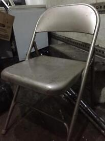 6 metal commercial folding chairs