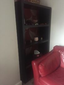 Ikea black 4 shelving unit
