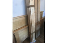 King size oak bed frame, very good condition as from spare room