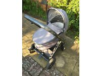 Oyster 2 unisex pram with carrycot and stroller seat
