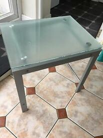 Glass small table