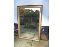 Gilt mirror, wooden framed