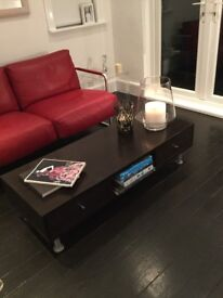 Designer Dark wood coffee table