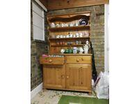 Vintage Wooden Kitchen Larder, Wooden Kitchen Cupboard, Wooden Display Cupboard,