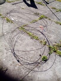 Wire from tunnel