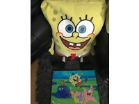 Large spongebob and canvas