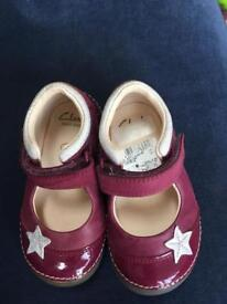 Clarks leather first shoes size 4.5G