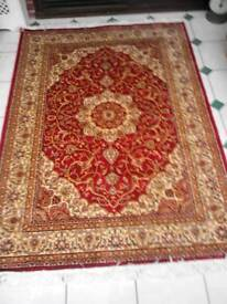 Kashen style traditional red rug.
