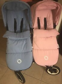 Bugaboo donkey duo pink and blue
