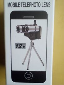 Brand new 12X Zoom Mobile Telephoto Lens Kit with Tripod only £12