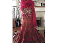 Stunning Asian wedding dress formal b/n