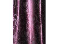 3 sets of Luxurious Plum Velvet DUNELM Curtains